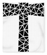 Mosaic Cross  Fleece Blanket