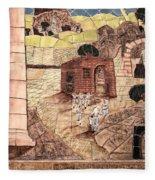 Mosaic Images At Petra Fleece Blanket