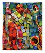 Mosaic Jazz Fleece Blanket