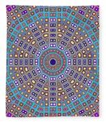 Mosaic Kaleidoscope  Fleece Blanket