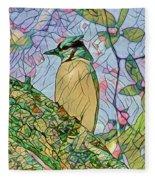 Mosaic Of Blue Jay Fleece Blanket
