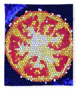 Mosaic Tomato Fleece Blanket