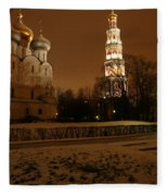Moscow Cathedral Of Our Lady Of Smolensk Fleece Blanket