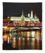 Moscow Evening, Overlooking The Kremlin. Fleece Blanket
