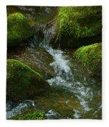 Mose On Rocks  Fleece Blanket