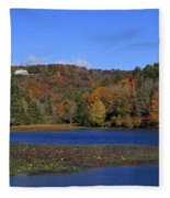 Moses Cone Manor House And Bass Lake Fleece Blanket
