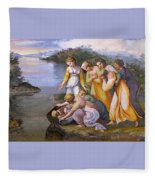 Moses Saved From The Waters Raffaello Sanzio Da Urbino Raphael Raffaello Santi Fleece Blanket