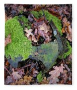 Moss And Leaves Fleece Blanket