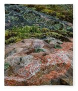 Moss And Lichen Abstract Fleece Blanket