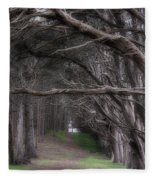 Moss Beach Trees 4191 Fleece Blanket