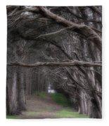 Moss Beach Trees 4191 Fleece Blanket