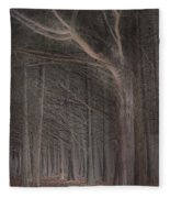 Moss Beach Trees Fleece Blanket