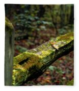 Moss Covered Fence Fleece Blanket