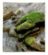 Moss Covered Rock Fleece Blanket