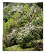 Moss Covered Tree Fleece Blanket