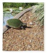 Moss Covered Turtle Fleece Blanket