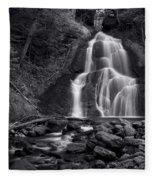 Moss Glen Falls - Monochrome Fleece Blanket