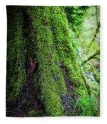 Moss On Tree Fleece Blanket