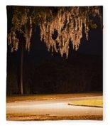 Mosssickles Silver Fleece Blanket