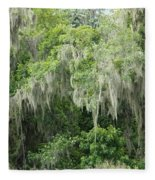 Mossy Branches Fleece Blanket