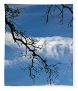 Mossy Branches Skyscape Fleece Blanket