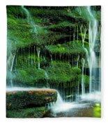 Mossy Falls - 2981 Fleece Blanket