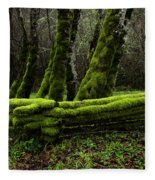 Mossy Fence 3 Fleece Blanket