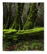 Mossy Fence 3 Fleece Blanket