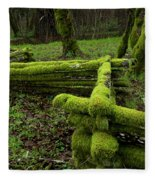 Mossy Fence 4 Fleece Blanket