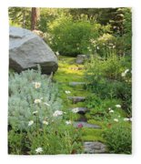 Mossy Path In Tahoe Fleece Blanket