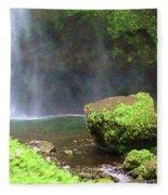 Mossy Rock Fleece Blanket