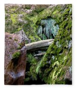 Mossy Rocks Fleece Blanket