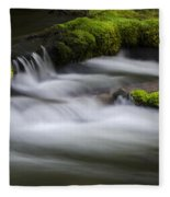 Mossy Rocks  Oregon 1 Fleece Blanket