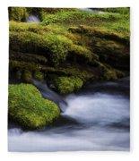 Mossy Rocks Oregon 3 Fleece Blanket