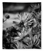 Moth And Flowers Fleece Blanket