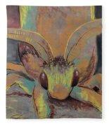 Moth Of Little Green Fleece Blanket