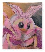 Moth Of Pink Fleece Blanket