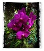 Moth Orchids  Fleece Blanket