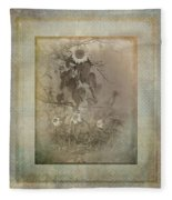 Mother And Child Reunion Vintage Frame Fleece Blanket