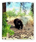 Mother Bear Fleece Blanket