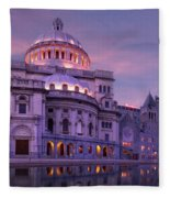 Mother Church And Reflection Fleece Blanket
