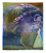 Mother Earth Series Plate3 Fleece Blanket