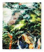 Mother Earth Sister Moon Fleece Blanket
