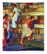Mother Ganges - Paint Fleece Blanket