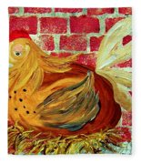 Mother Hen Fleece Blanket