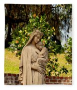 Mother Mary Fleece Blanket