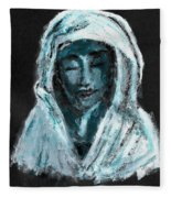 Mother Of Sorrows Fleece Blanket