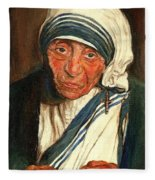 Mother Teresa  Fleece Blanket