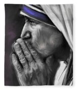 Mother Teresa Of Calcutta Fleece Blanket