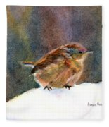 Mother Wren Fleece Blanket